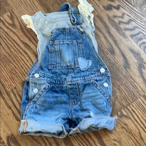GAP Overalls and tank top